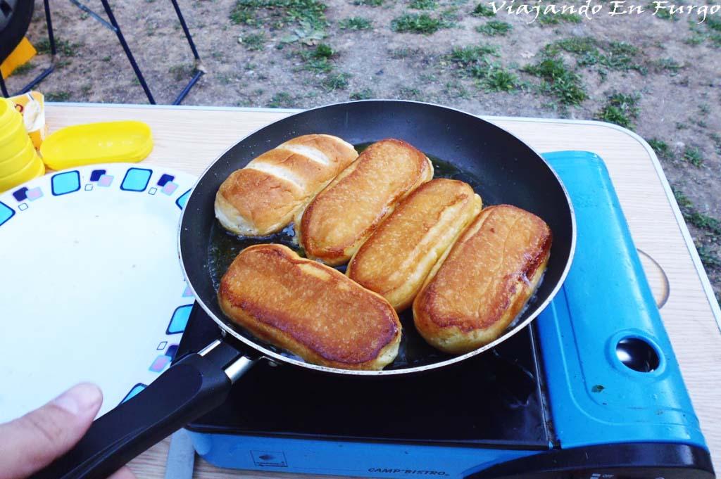 Paso 2: freímos los panecillos