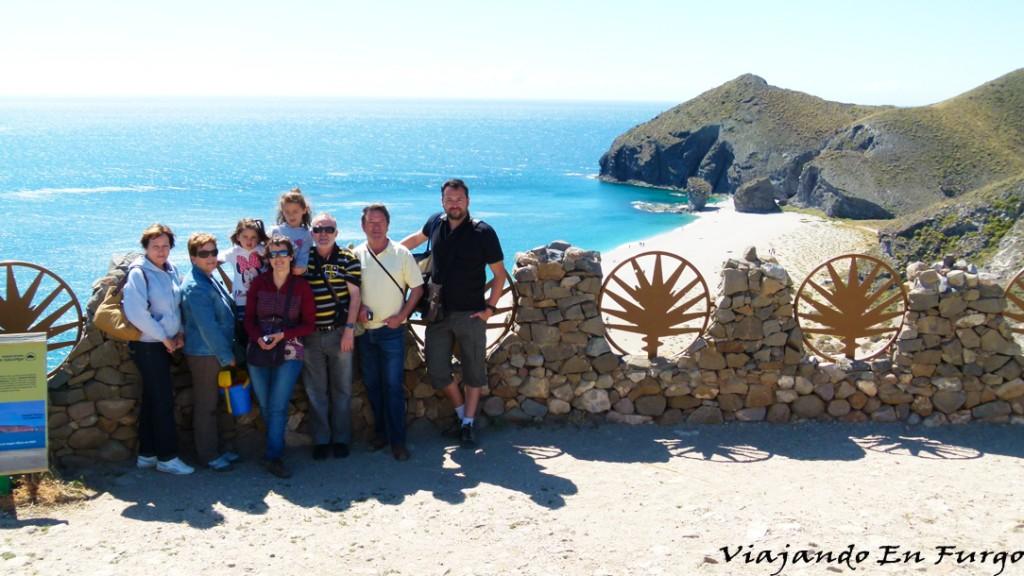 Playa de los Muertos en el viaje más familiar a Cabo de Gata