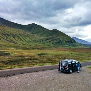 Viajando En Furgo en las Highlands