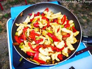 Fajita pollo queso y mostaza 1