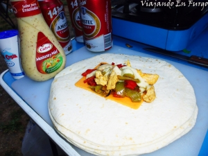 Fajita pollo queso y mostaza 2