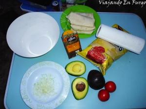 Ingredientes guacamole