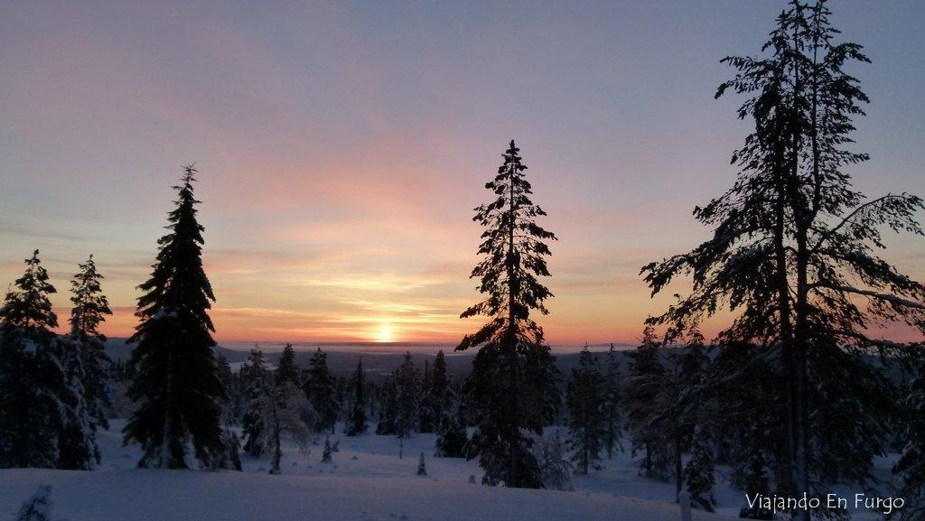 Atardecer en Laponia