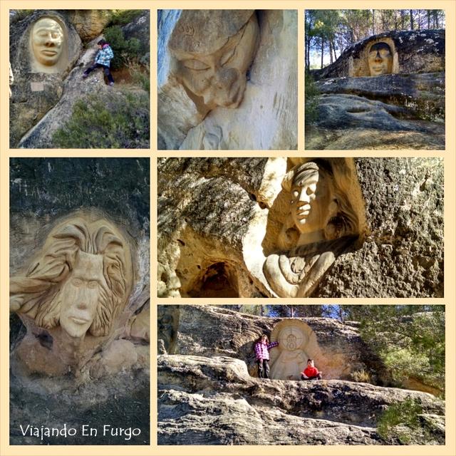 esculturas ruta de las caras