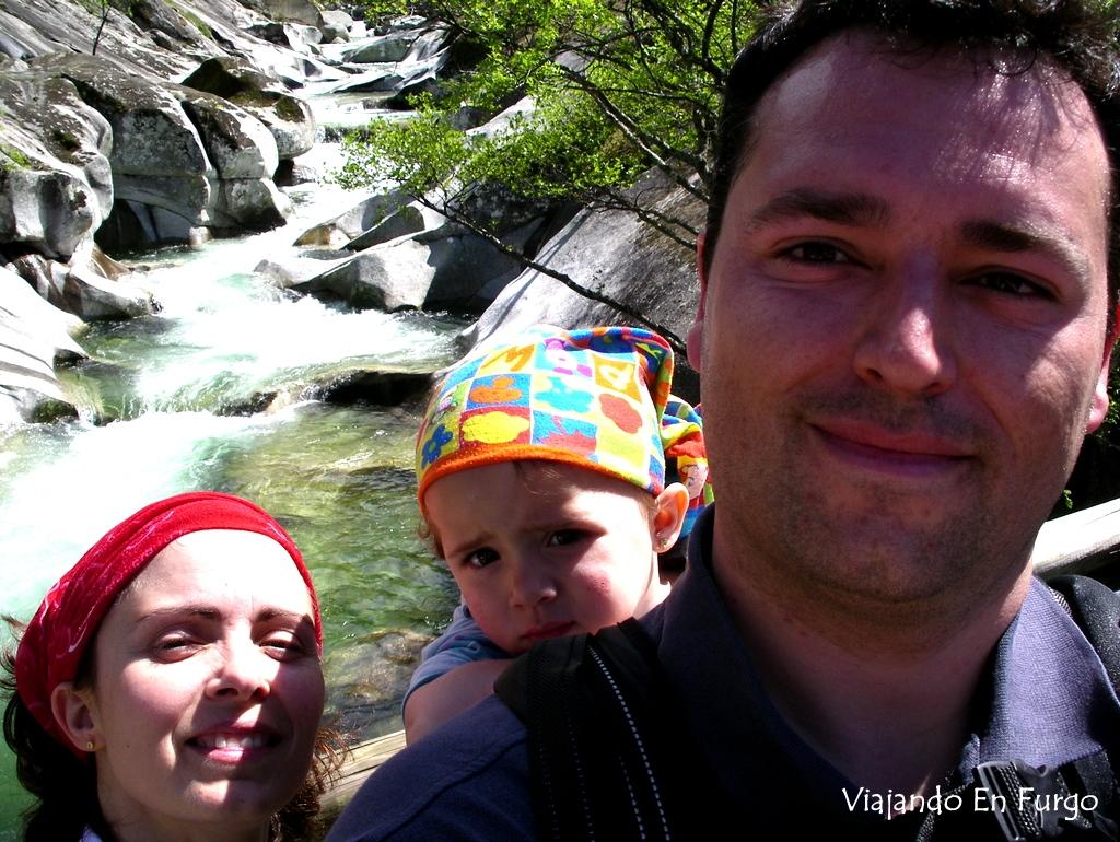 Los Pilones de la Garganta del Infierno en el valle del Jerte, cuando no se llevaban los selfies