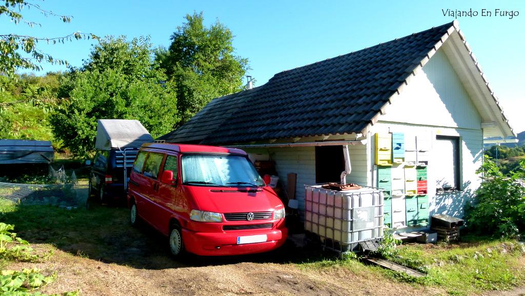Huerto Eslovenia en furgo