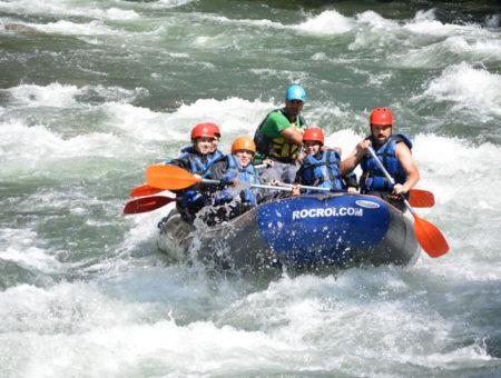 Rafting en familia en La Noguera Pallaresa