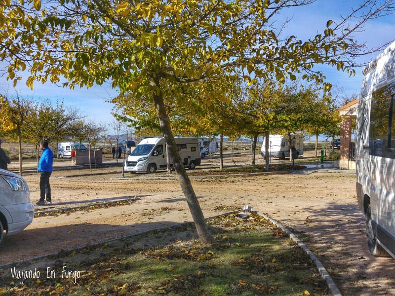 Parcelas del camping La Estepa