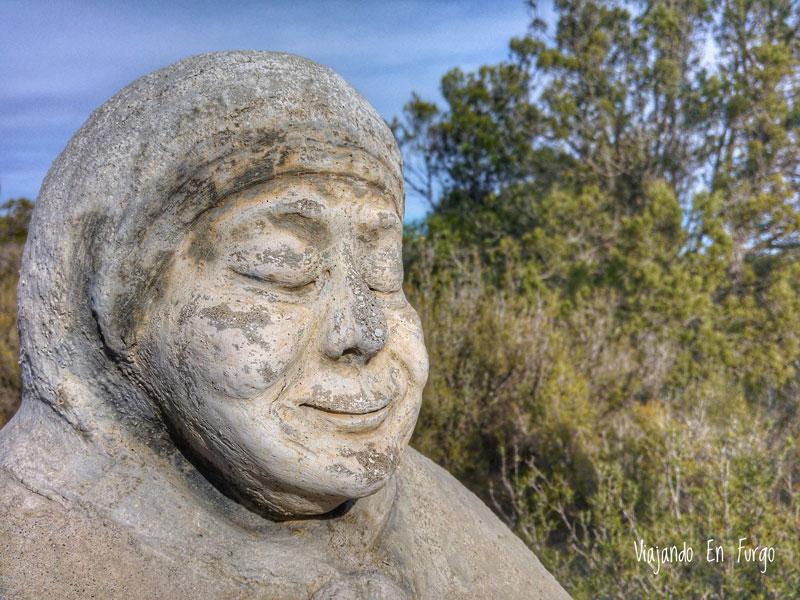 Cabeza de la escultura de la Tía Tonina